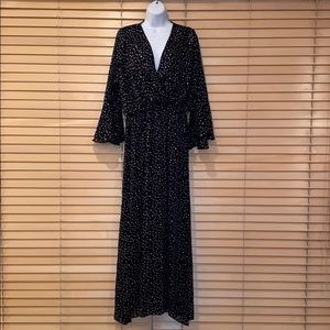 Nasty Gal Dot Your Number Spotty Maxi Dress